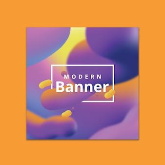 Banner-vorlage mit fließendem hintergrund