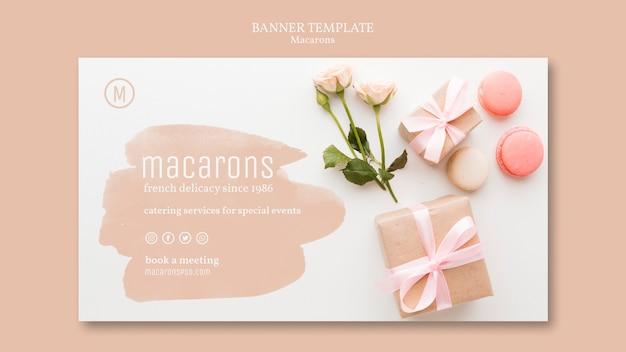 Banner vorlage mit macarons