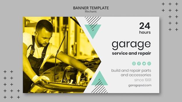 Banner vorlage mit mechanischem design