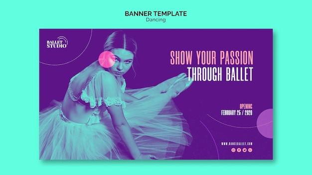 Banner vorlage mit tanzkonzept