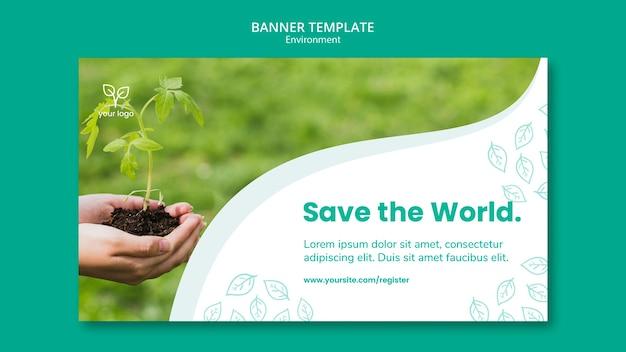 Banner-vorlage mit umweltthema