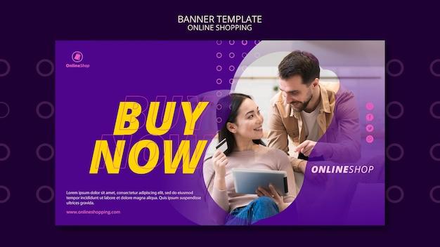 Banner vorlage online-shopping