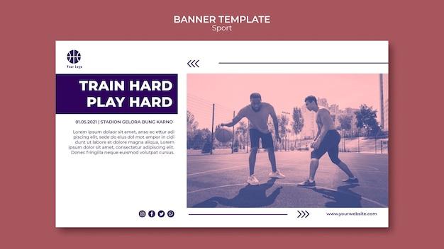Banner vorlage zum basketballspielen