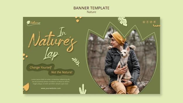 Banner-vorlage zur erkundung der natur nature