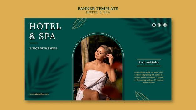 Banner-vorlagendesign für luxusferienwohnungen