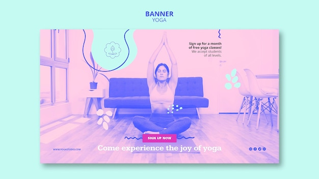 Banner yoga klassen vorlage