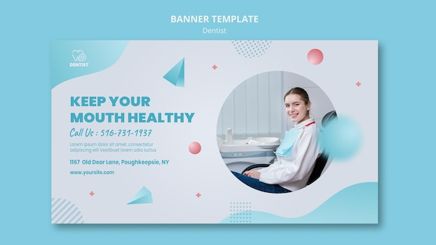 Banner zahnarzt klinik vorlage