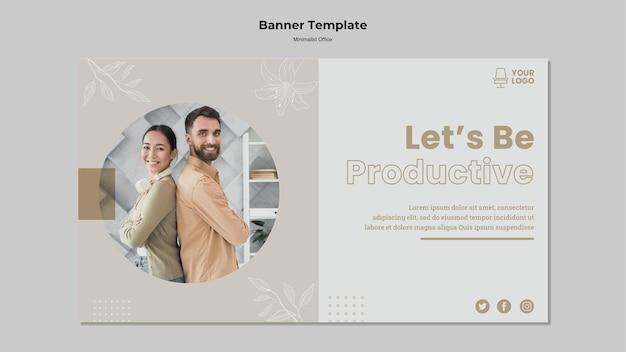 Bannervorlage des minimalismuskonzepts