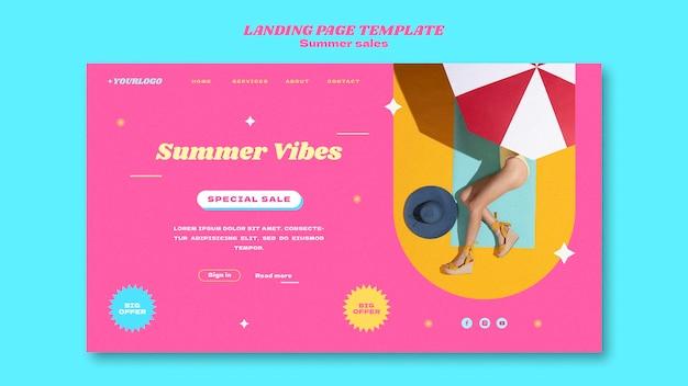 Bannervorlage für den sommerschlussverkauf