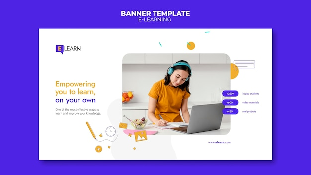 Bannervorlage für e-learning-konzepte