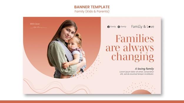 Bannervorlage für familiendesign