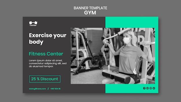 Bannervorlage für fitnessstudios