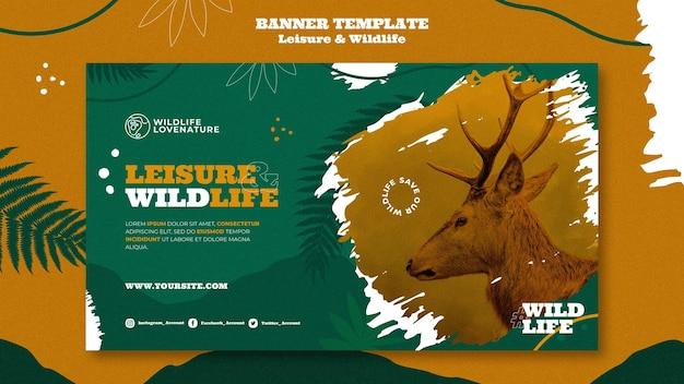 Bannervorlage für freizeit und tierwelt