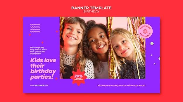 Bannervorlage für geburtstagsfeiern