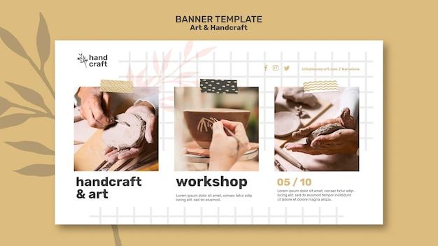 Bannervorlage für kunst und handwerk hand