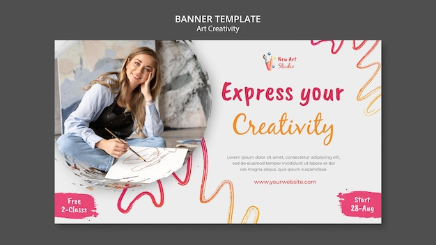 Bannervorlage für kunst und kreativität