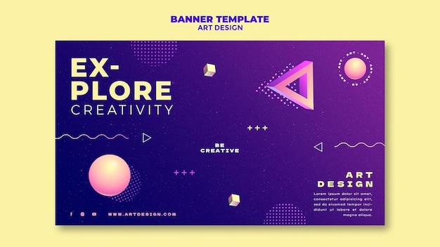 Bannervorlage für kunstdesign