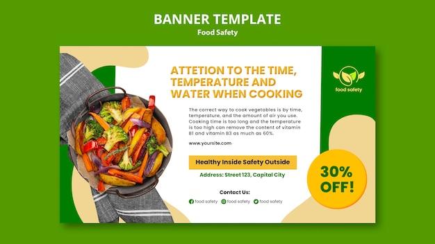 Bannervorlage für lebensmittelsicherheit