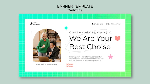 Bannervorlage für marketingagenturen
