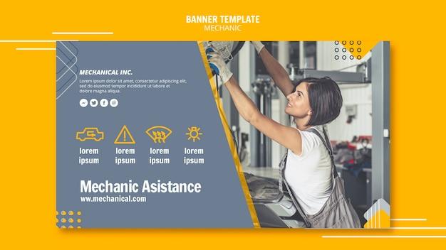 Bannervorlage für mechaniker