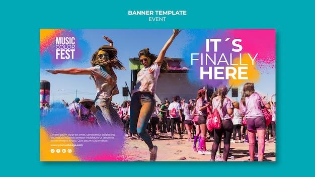 Bannervorlage für musikfestivals