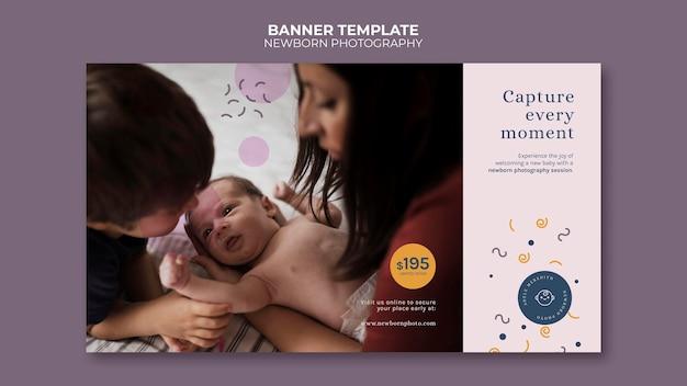 Bannervorlage für neugeborenenfotografie photography