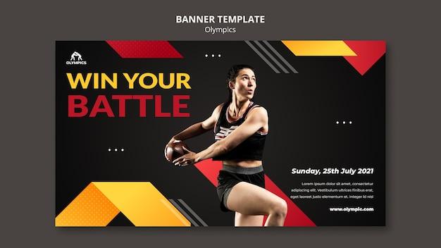 Bannervorlage für olympische spiele