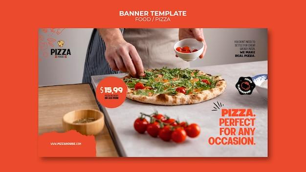 Bannervorlage für pizzarestaurants