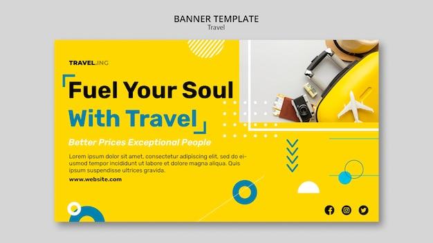 Bannervorlage für reiseabenteuer