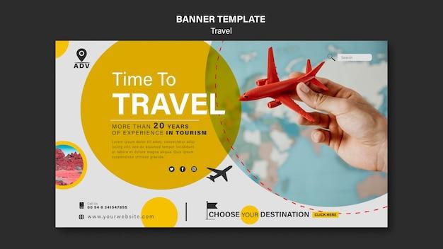 Bannervorlage für reisebüros Kostenlosen PSD