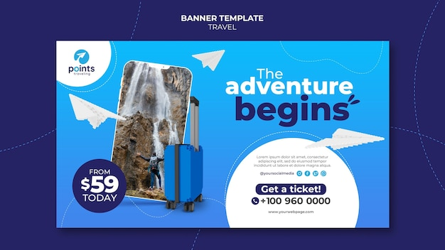 Bannervorlage für reisebüros