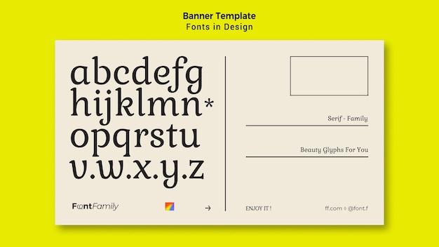 Bannervorlage für schriftarten und design