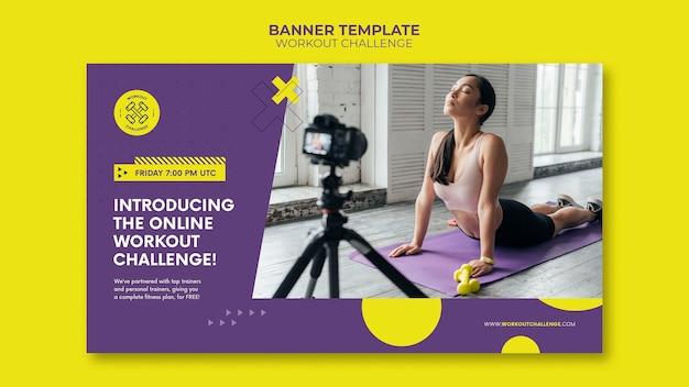 Bannervorlage für trainingsherausforderungen