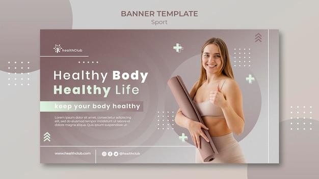 Bannervorlage für yogaübungen
