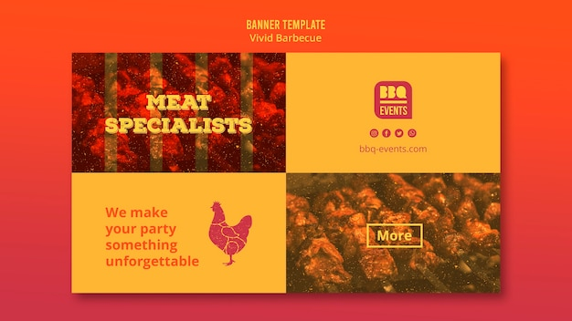 Barbecue-konzept-banner-vorlage