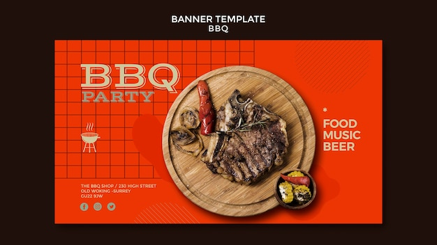 Barbecue party banner vorlage