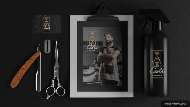 Barber branding mockup-set