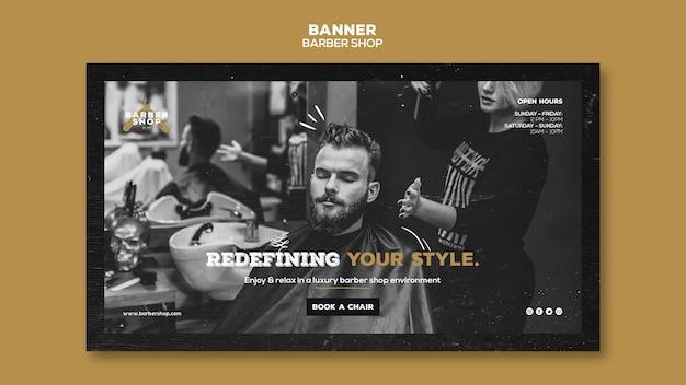 Barber shop banner vorlage thema