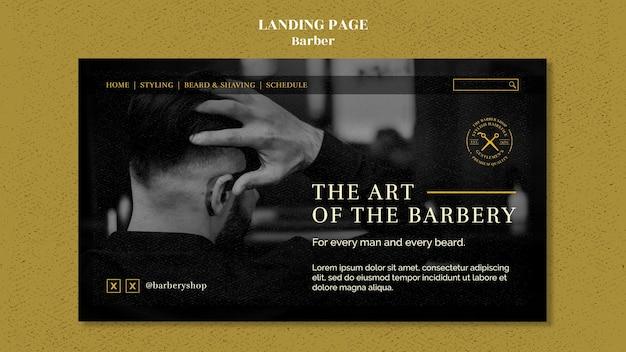 Barber shop landing page vorlage