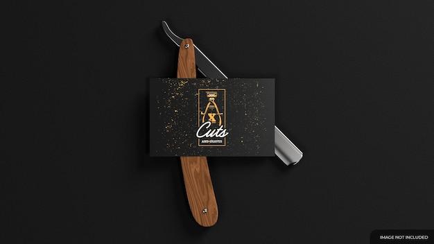 Barber visitenkarten-mockup mit wblade