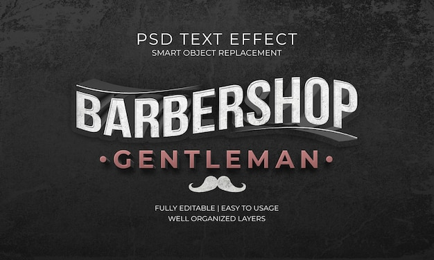 Barbershop gentleman texteffekt