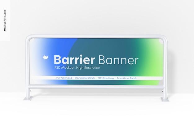 Barriere-banner-modell, vorderansicht