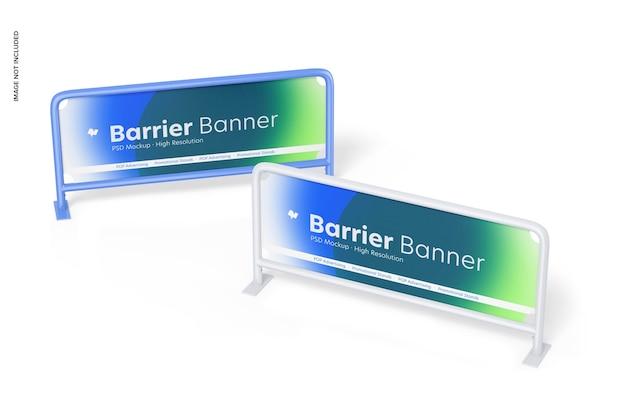 Barrieren banner mockup