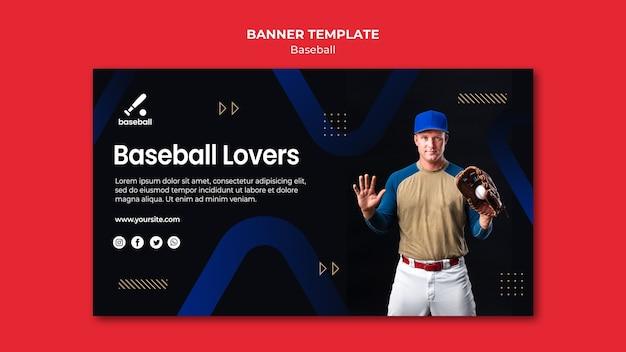 Baseball banner vorlage