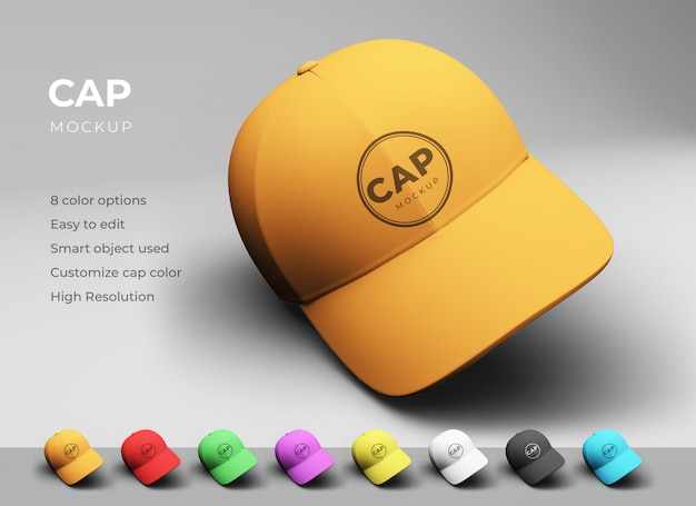 Baseball cap mockup design