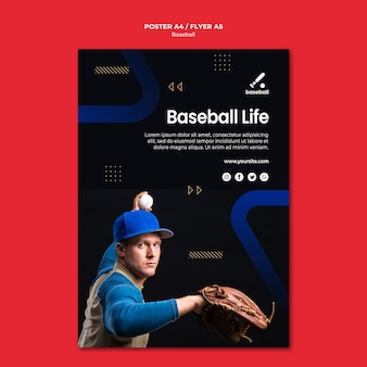 Baseball-plakatschablone