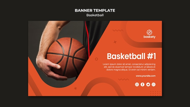 Basketball banner vorlage stil
