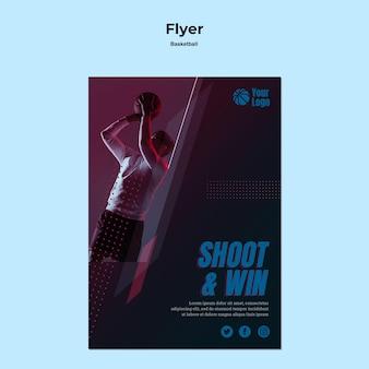 Basketball flyer vorlage thema
