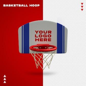 Basketball hoop mockup in 3d-rendering isoliert