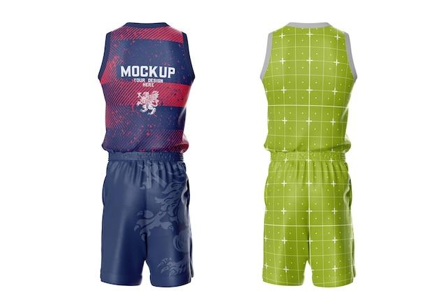 Basketball-kit mockup rückseite